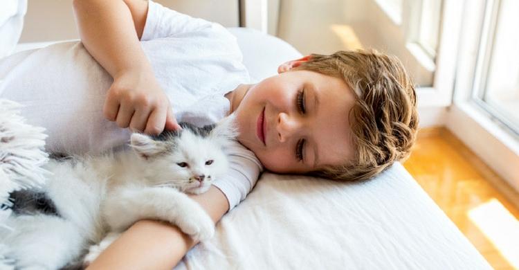 Los niños adoran dormir con sus mascotas (Istock)