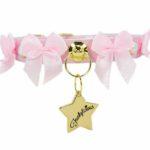 Collar de perro rosa con lacitos de Funkylicious