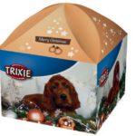 2. Caja navideña para perro con regalos de Trixie