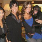 Las Kardashian y el chimpancé (Instagram)