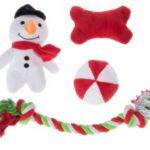 9. Set de juguetes navideños para perros de Zooplus